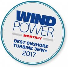 Wind Power Monthly named the 3MW+ as the Best Onshore Turbine in 2017
